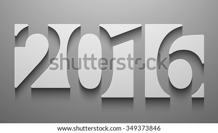 Happy new 2016 year. Creative design. Vector illustration for your design - stock vector
