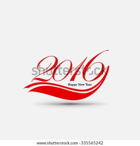 Happy New Year 2016 Design Background - stock vector
