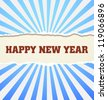 Happy New Year design card vector - stock vector