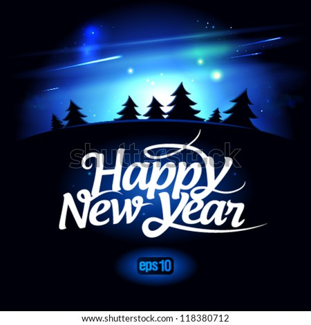 Happy New Year design template. Eps10. - stock vector