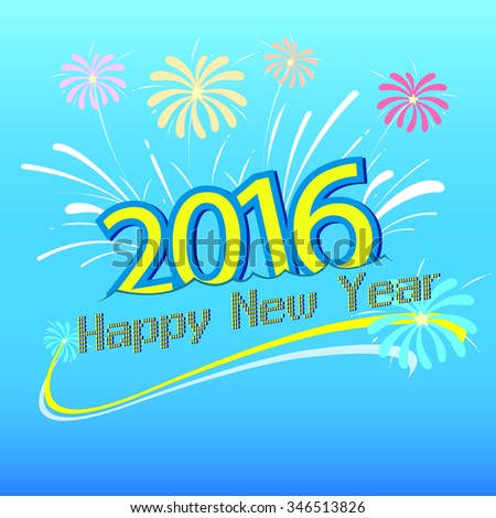 Happy new year 2016 design. Vector illustration design element.