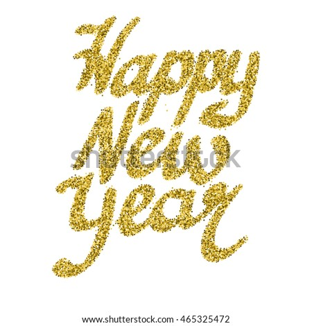 Happy new year glitter lettering stars stock vector 465325472 happy new year glitter lettering with stars and sparkles bright holiday vector greeting card m4hsunfo