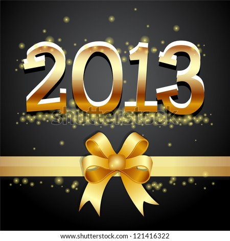 Happy new year 2013 gold - stock vector