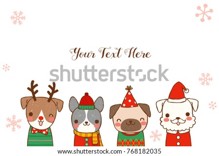 Happy New Year 2018 Greeting Card. Dog Chinese Zodiac Symbol Of The Year.  Cute