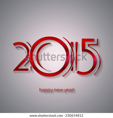 Happy New Year 2015 Greeting Card | EPS10 Vector Design - stock vector