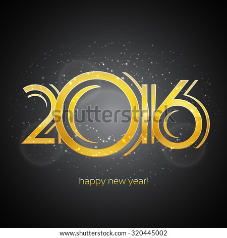 Happy New Year 2016 Greeting Card | EPS10 Vector Design - stock vector