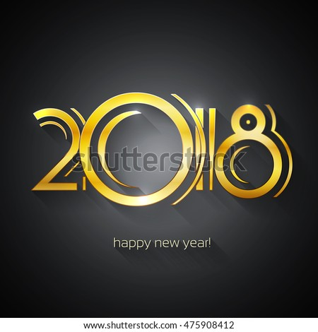 Happy New Year 2018 Greeting Card | EPS10 Vector Design