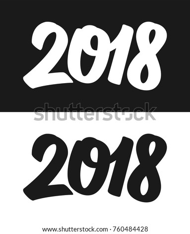 happy new year 2018 greeting card stock vector 2018 760484428