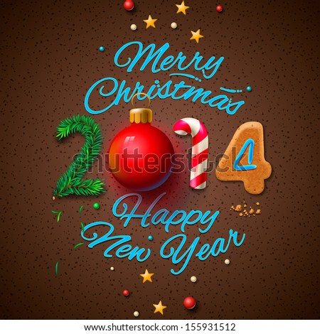 Happy new year 2014 greeting card stock vector 155931512 shutterstock happy new year 2014 greeting card vector illustration m4hsunfo