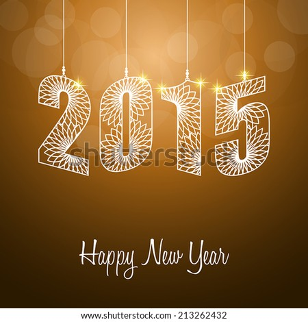 Happy New Year 2015. Greeting card. Vector Illustration - stock vector