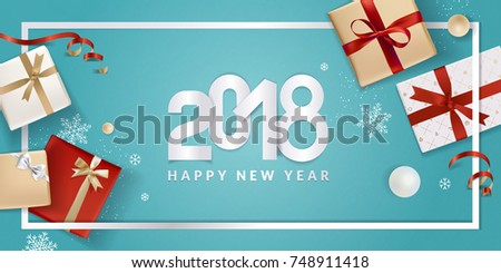 Happy new year greeting card vector stock vector 748911418 happy new year greeting card vector illustration concept for greeting cards web banner m4hsunfo