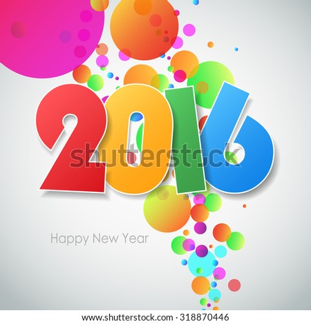Happy new year 2016  greeting card. Vector illustration eps10