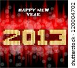 Happy New Year 2013 Happy new year's eve with a multicolored background, bright text like little light ball - stock vector