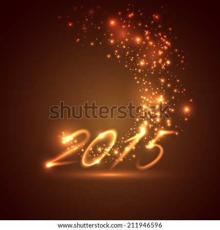 happy new year 2015. holiday background  - stock vector