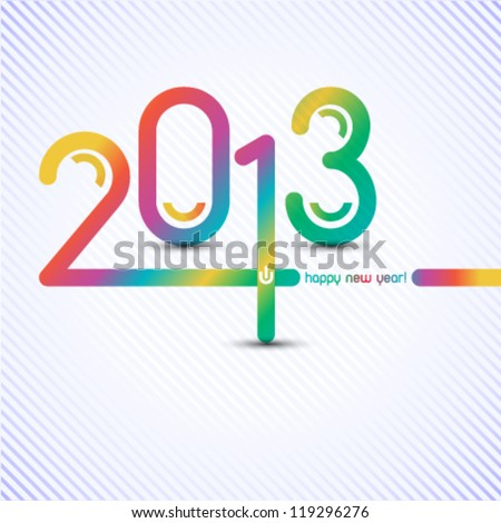 happy new year 2013 illustration - stock vector