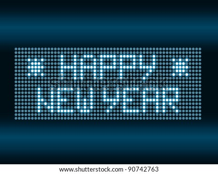 Happy New Year led light - stock vector