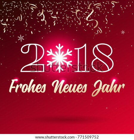 Happy new year 2018 lettering ribbon stock vector royalty free happy new year 2018 lettering ribbon type german frohes neues jahr m4hsunfo