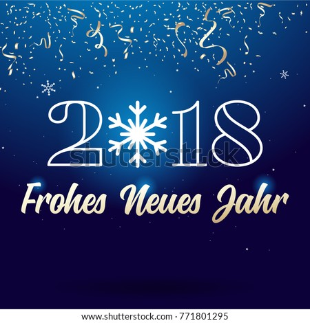 Happy new year 2018 lettering ribbon stock vector 771801295 happy new year 2018 lettering ribbon type german frohes neues jahr m4hsunfo
