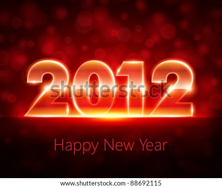 Happy new year 2012 message from light vector background. Eps 10. - stock vector