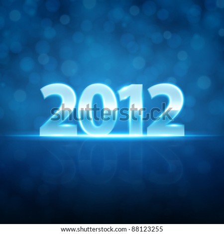 Happy new year 2012 message shiny light vector background. Eps 10.
