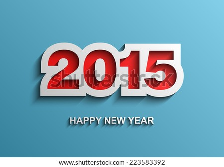 Happy new year 2015 modern vector background, Text design, Vector illustration Eps 10 - stock vector
