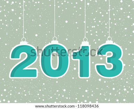 Happy new year 2013! New year design template - stock vector