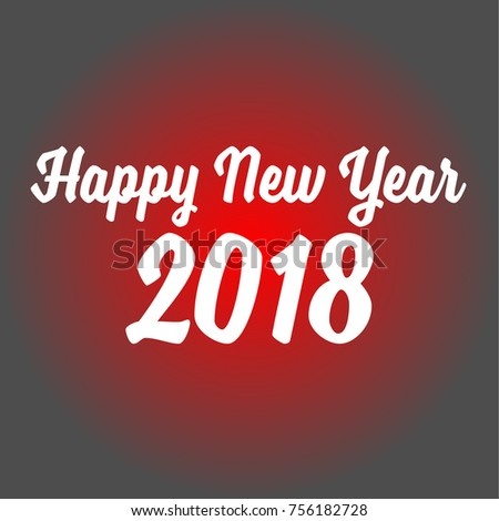 happy new year 2018 on red stock vector 756182728 shutterstock