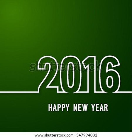 Happy new year 2016 paper postcard. Vector illustration. - stock vector