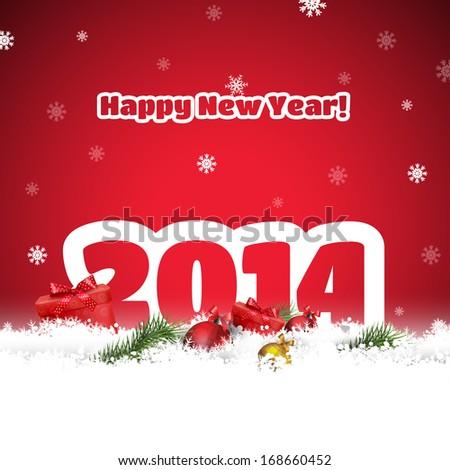 Happy New Year Postcard - stock vector