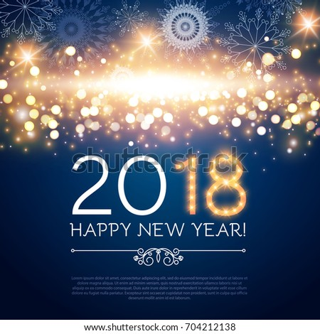 Happy New  Year Poster Flyer Stock Photo Photo Vector