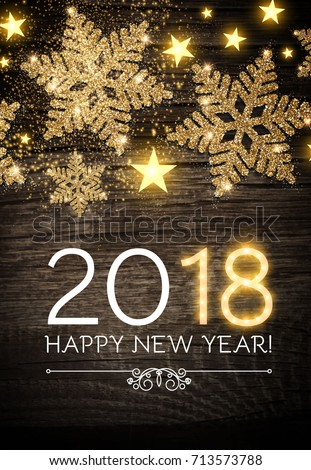 happy new 2018 year poster template stock vector 713573788 shutterstock