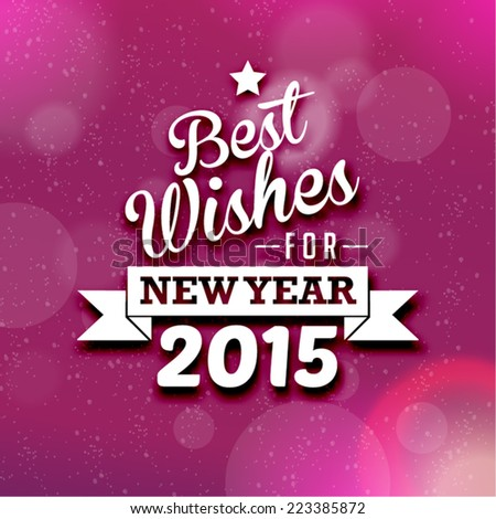 Happy New Year 2015 Season Greetings Vector Design - stock vector