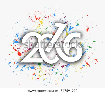 Happy new year 2016 Text Design