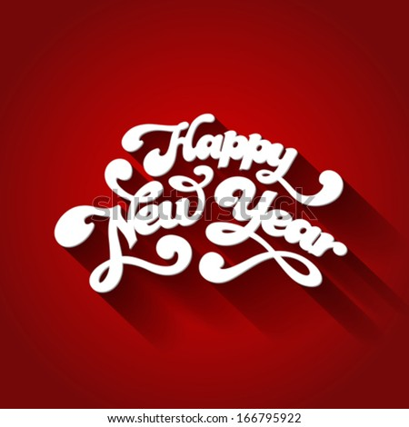 Happy New Year Typography. Creative design template. Vector. Just put year's number! - stock vector