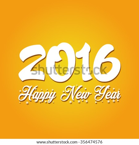 Happy New Year 2016 Vector - stock vector