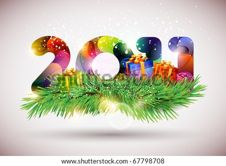 Happy New year vector - stock vector
