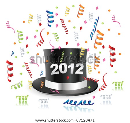 Happy new year. Vector - stock vector