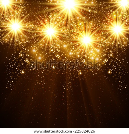 Happy New Year 2015 vector celebration background, easy all editable - stock vector