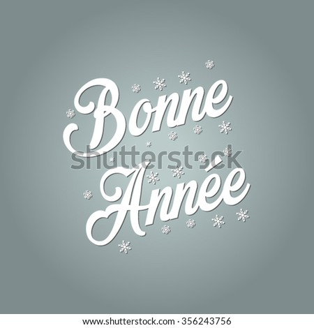 Happy new year 2016 vector (French Speak: Bonne Annee) - stock vector