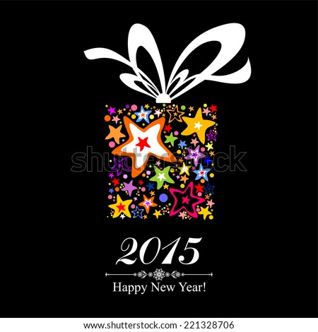 Happy new year 2015! Vector Illustration  - stock vector