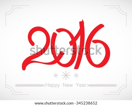 Happy new year 2016. Vector illustration