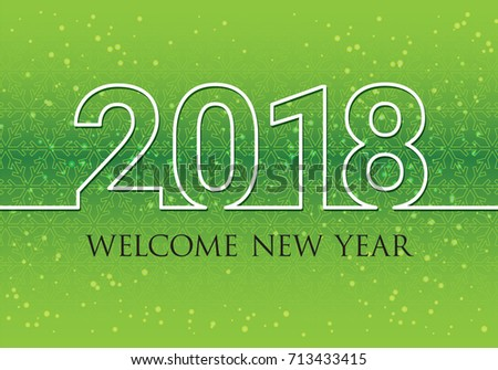 Happy New Year 2018 Wish You Stock-Vektorgrafik 713433415 – Shutterstock