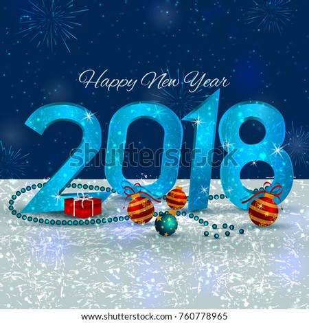 Happy new year 2018 wishes greeting stock vector 2018 760778965 happy new year 2018 wishes greeting card template background design in vector m4hsunfo