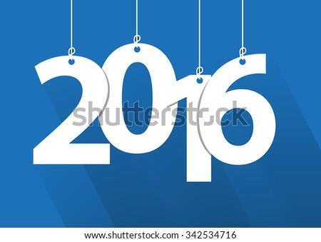 Happy 2016 new year word