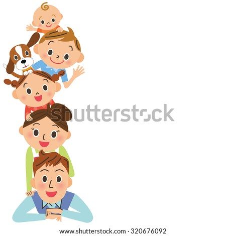 Happy parent and child - stock vector