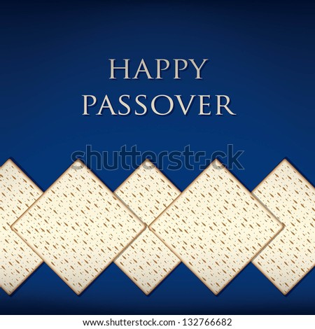 Happy Passover card in vector format. - stock vector