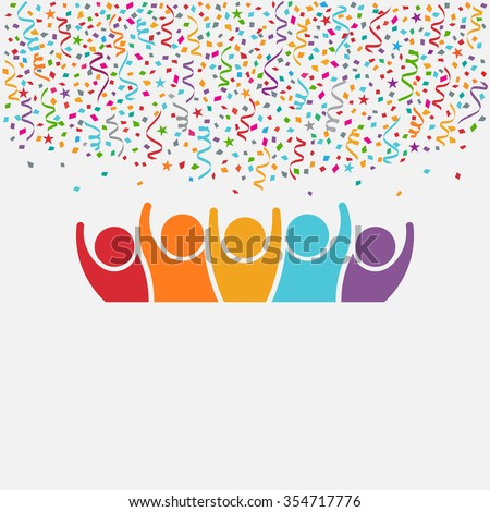 Happy People Party. Celebration concept for Birthdays and New year's night - stock vector