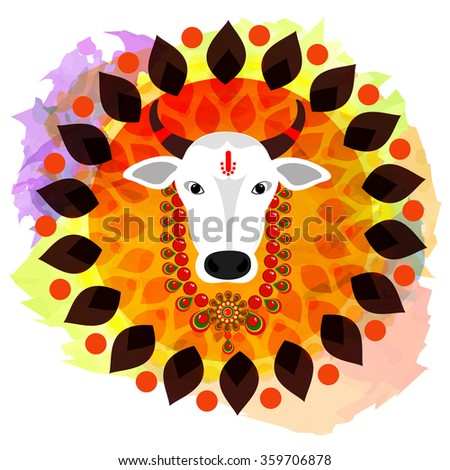 Happy pongal festival design decorated greeting stock vector happy pongal festival design decorated greeting card for south indian m4hsunfo
