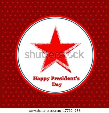 Happy Presidents Day American Background  - stock vector