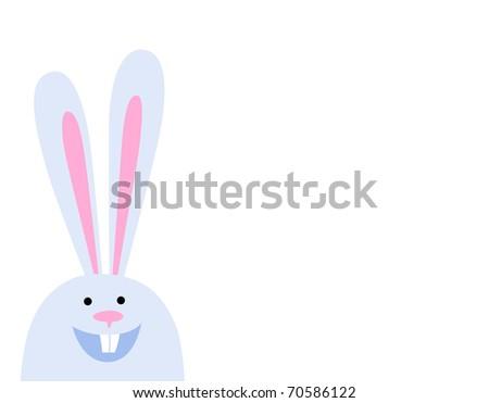 happy rabbit on white - stock vector